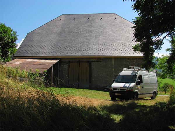 Rénovation de la couverture d'une grange à Cognin – Savoie