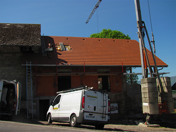 Transformation d'une grange en villa à Méry – Savoie