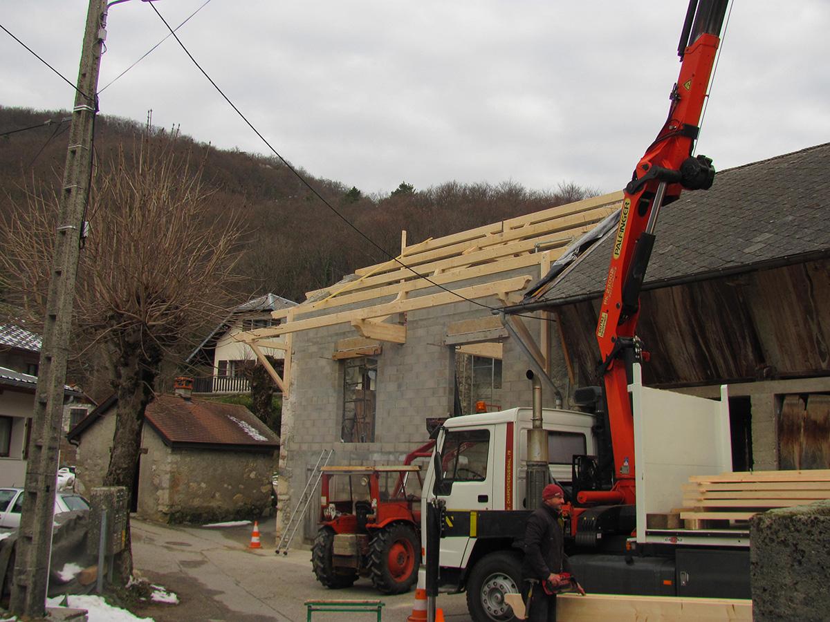Transformation d'une grange en villa à La Chapelle du Mont du Chat – Savoie
